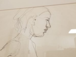 Line Drawing Of Human Face : Human figure exhibition cuyahoga valley art center